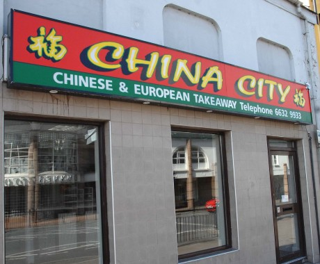 The China City Chinese take-away where Chinese immigrants had been working illegally