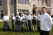 Noel McMeel, Executive Chef at the Lough Erne Resort, pictured with some of his young chefs who will be catering for those at the G8 Summit. They are from left, Timothey Donegan, Lauren Beavers, Antoinette Ceelen, Andrew McKee, Jean Bell, Sam Monaghan, Sinead Morrow and Andrew Leonard  gkfh33