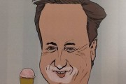 WHAT'S YOUR FLAVOUR...A promotional poster for David Cameron's 'Eton Mess' gelato