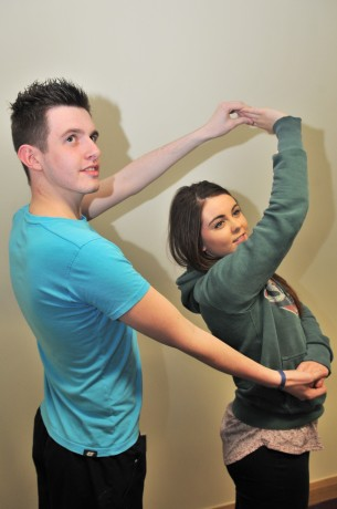 Ryan Smith dancing with partner Yasmin McMaster