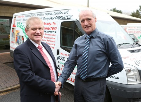 Cleaning Doctor Managing Director William Little with John Tracey