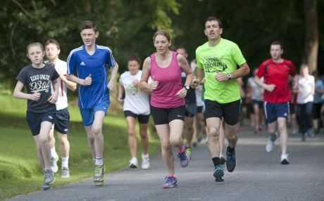 Runners on the route of the Saturday morning 5K at Castlecoole   bmcb 6