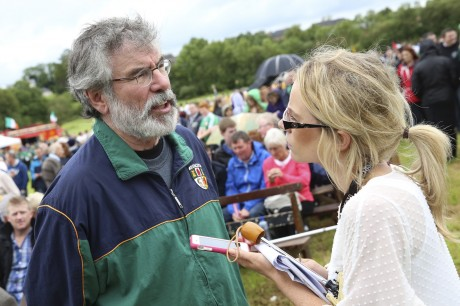 Gerry Adams talks to Fermanagh Herald Journalist, Cat McCurry.