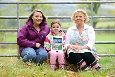 The Livestock and Meat Commission for Northern Ireland (LMC) has launched an exciting new website which aims to increase the use of Northern Ireland Farm Quality Assured (NIFQA) beef and lamb by home cooks. www.beefandlambni.com is packed with recipe ideas and menu suggestions along with know-how demonstration videos by local chef Karyn Booth on how to cook and enjoy beef and lamb products at home. Pictured are Sian, Darcy and Karen McCullough