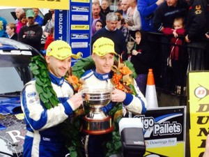 Declan and Brian Boyle with the Dunlop National Championship trophy