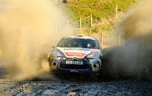 Alastair Fisher and Gordon Noble in their Citroen DS3 R3T at Wales Rally GB