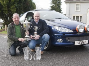 Benny Grainger from Enniskillen with rally partner David Howard from Omagh who won the NI Navigation Rally championship.