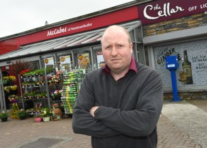 Declan McCabe of McCabe's Supervalu, Newtownbutler is unhappy with the increase in his rates bill. RMGFH88