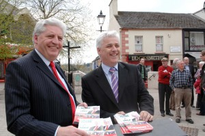 ALLIES…SDLP leader Alisdair McDonnell (left) and Fearghal McKinney