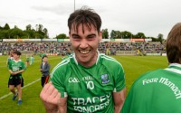 25 July 2015; Barry Mulrone, Fermanagh, celebrates after the game. GAA Football All-Ireland Senior Championship, Round 4A, Fermanagh v Westmeath. Kingspan Breffni Park, Cavan. Picture credit: Oliver McVeigh / SPORTSFILE