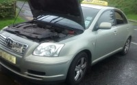The stolen vehicle was recovered along the Tempo Road at Killyvilly
