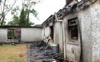The fire caused extensive damage to the house