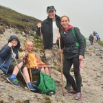Local pilgrims brave dismal conditions at annual pilgrimage to Croagh Patrick