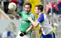 Niall Cassidy skips past Monaghan's Karl O'Connell during the Ulster semi-final in Breffni Park.