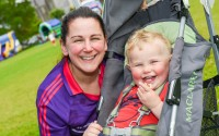 Maria and Ryan Murphy enjoy a laugh together at Loughfest that was held at the Broadmeadow Enniskillen.  There was face painting, bouncy castles, laser quest and a food stall at the event along with a range of water based activities   RMGFH07