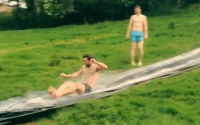 VIDEO: This home-made slide looks sooo much fun!