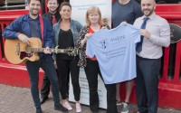 Launching the Summer Live Lounge at Blakes, Karl Ledwith, Gary Lynch, Sinead McGovern from The Engagements, Bridie Sweeney, Aisling Centre Co-Ordinator, Niall Carberry and Blakes Manager Mark Edwards  bmcb 11