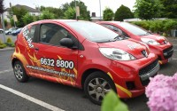 A Pizza Hut Delivery car as driven by the Pizza Hut Delivery drivers    RMGFH15