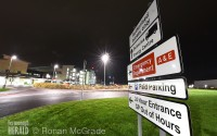 The accident and emergency entrance to the South West Acute Hospital.  RMGFH21