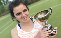 Sarah Cousins won the Ladies A Singles title at the City of Derry Tennis Championships where she competed with players from across Northern Ireland    RMGFH02