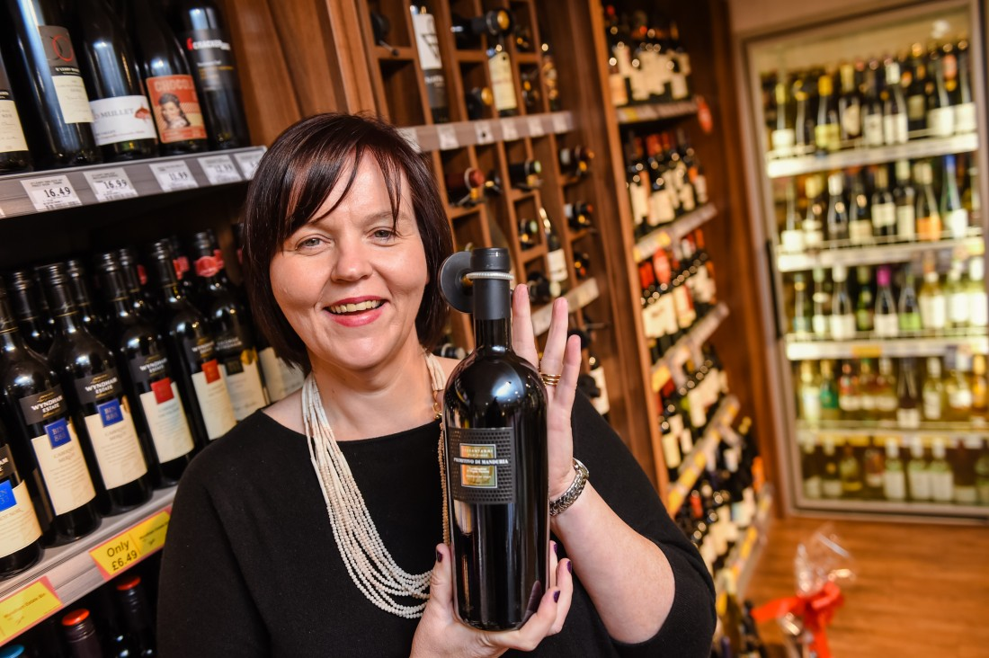 Una Lilley from Lilley's Centra in their fully stocked off licence that has an extensive range of fine wines, craft beers and spirits