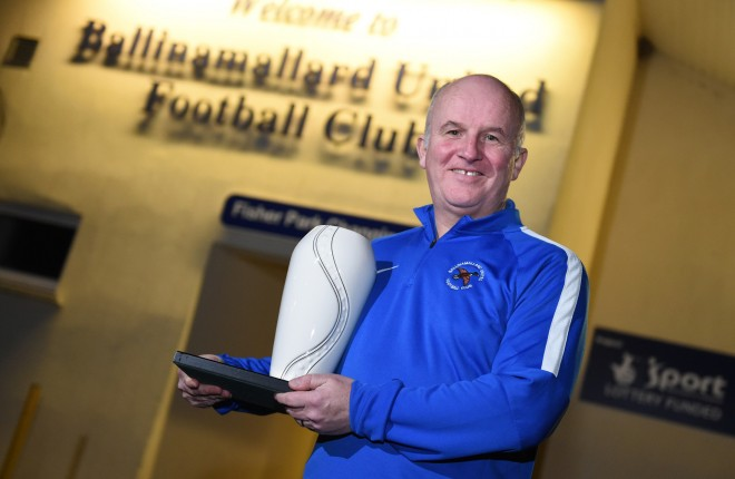 Ballinamallard manager Whitey Anderson is Fermanagh Herald Sports Personality of the Month for November.