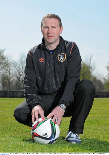 22 April 2015; Republic of Ireland head coach Tom Mohan. Republic of Ireland U17 Squad Training, Johnstown House Hotel, Enfield, Co. Meath. Picture credit: Derek McAuley / SPORTSFILE