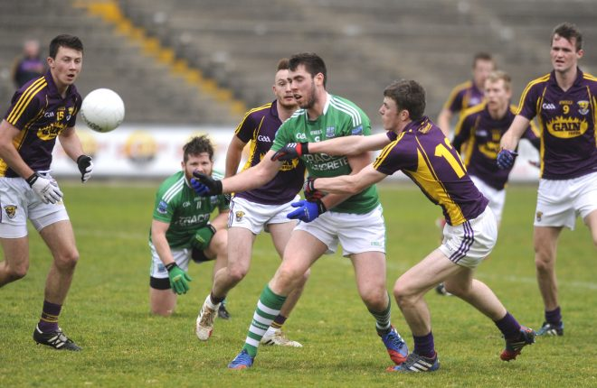 Action from last year's league meeting between Fermanagh and Wexford.