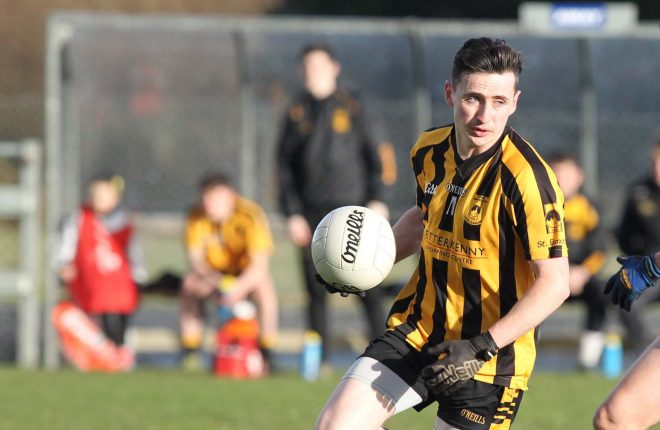 Conor Gibbons got one of only two points St Eunan's managed in their 0-3 to 0-2 loss to Glenswilly at the weekend..