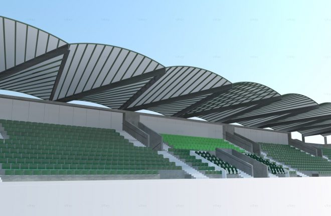 An artist's impression of the new state-of-the-art stadium at London GAA headquarters in Ruislip