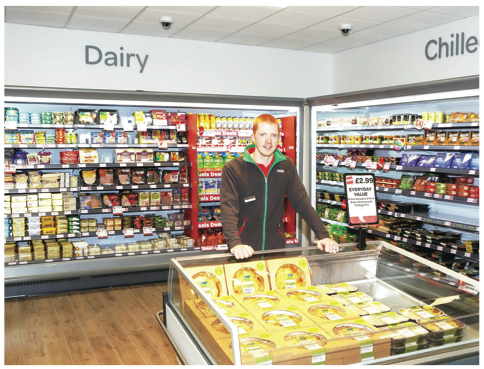 Manager at McBride's Lakeside Service Station Daryl Moohan pictured in the store.