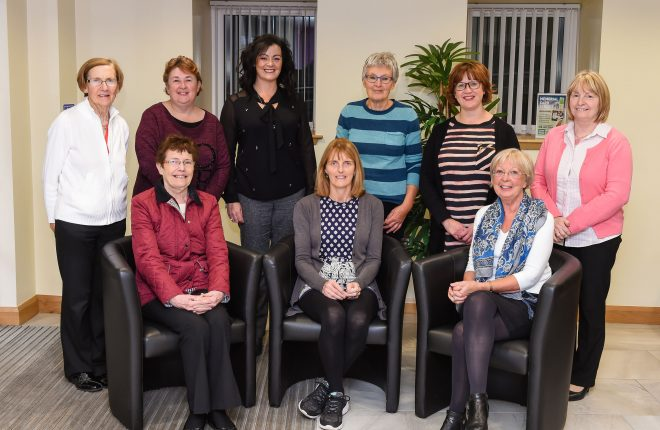 The 2017 Fermanagh Feis Committe. Back from left, Kathleen Lavin, Monica Lunny, Ciara O'Flanagan, Barbara Johnston, Helen Cleary and Maureen McGovern.  Front, Noreen McCluskey, Catherine Murphy and Ann Allen    RMG03