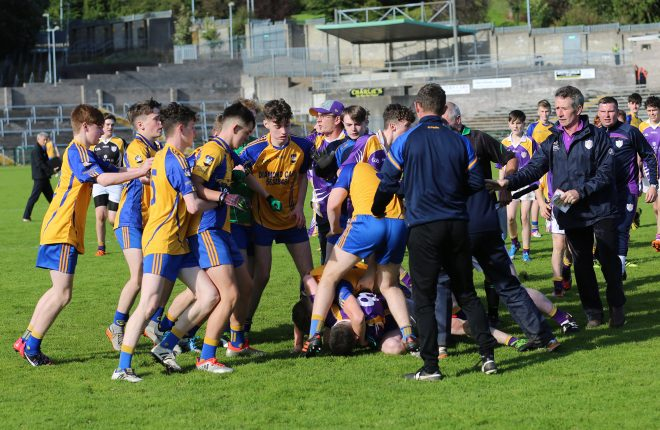 The scene at the Brewster Park final on Sunday