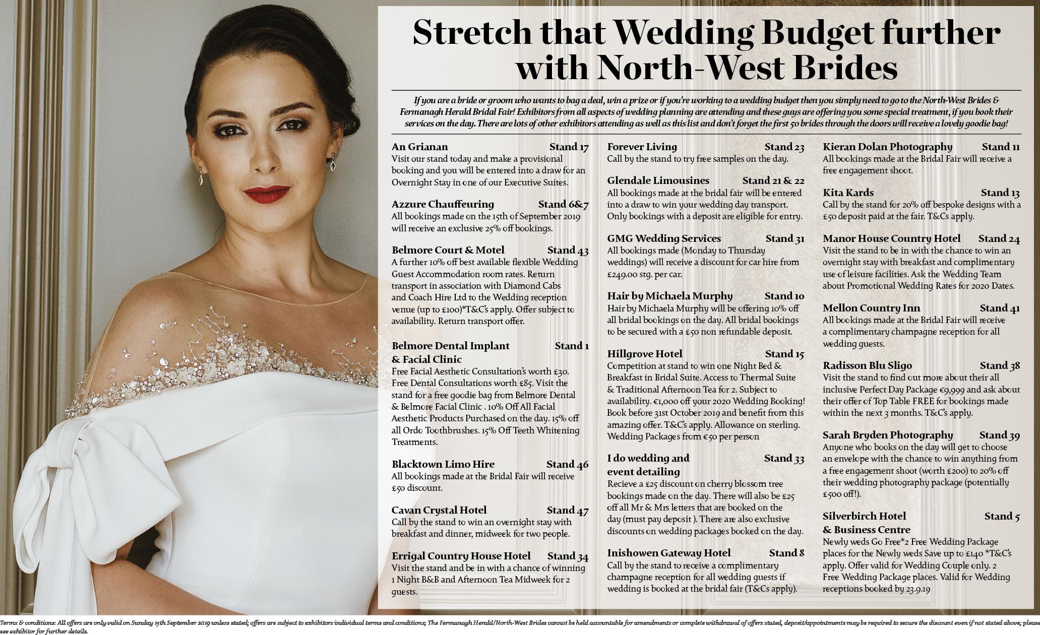 Bridal Fair Offers