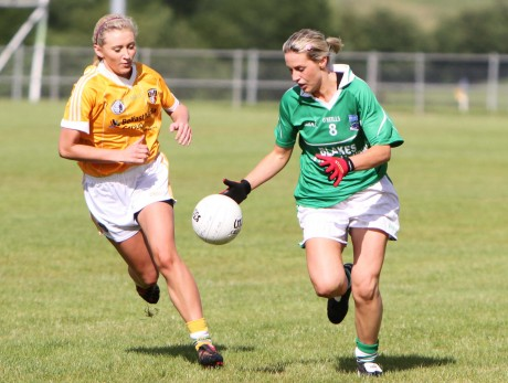 Macella Connolly (Fermanagh) and Aine Tubridy (Antrim). Photo Oliver Corr
