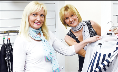Lorraine Hemphill and Heather Lynn, try out the changing facilities at Style Outlet, Bridge Street, Omagh.