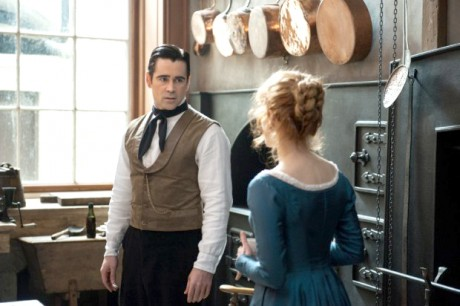 MISS JULIE... Colin Farrell and Jessica Chastain in a scene from 'Miss Julie'