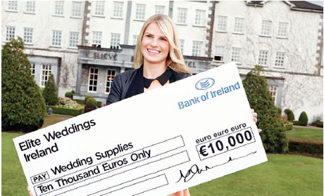 Bride-to-be Christine Taylor with her prize of €10,000 worth of wedding products from Elite Weddings Ireland who have just announced that they will again run this competition to win 13 wedding products worth €10,000.