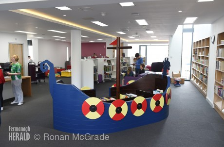 The interior of Lisnaskea Library