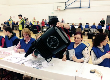The count went on until the early hours of the morning