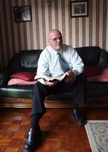 Rev Ivan Foster pictured in his home