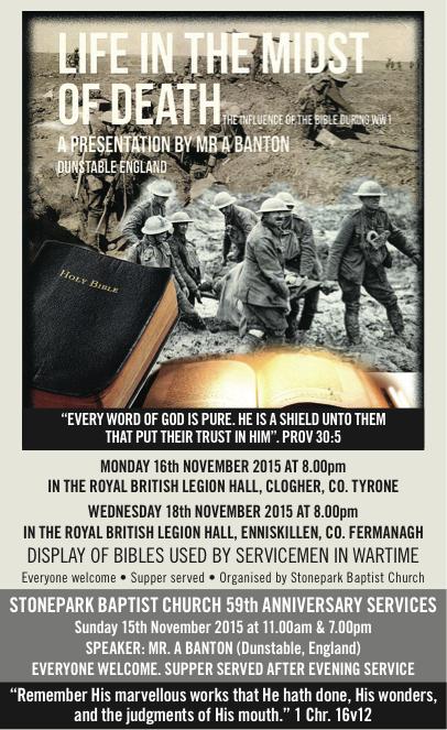 Stonepark Baptist ad
