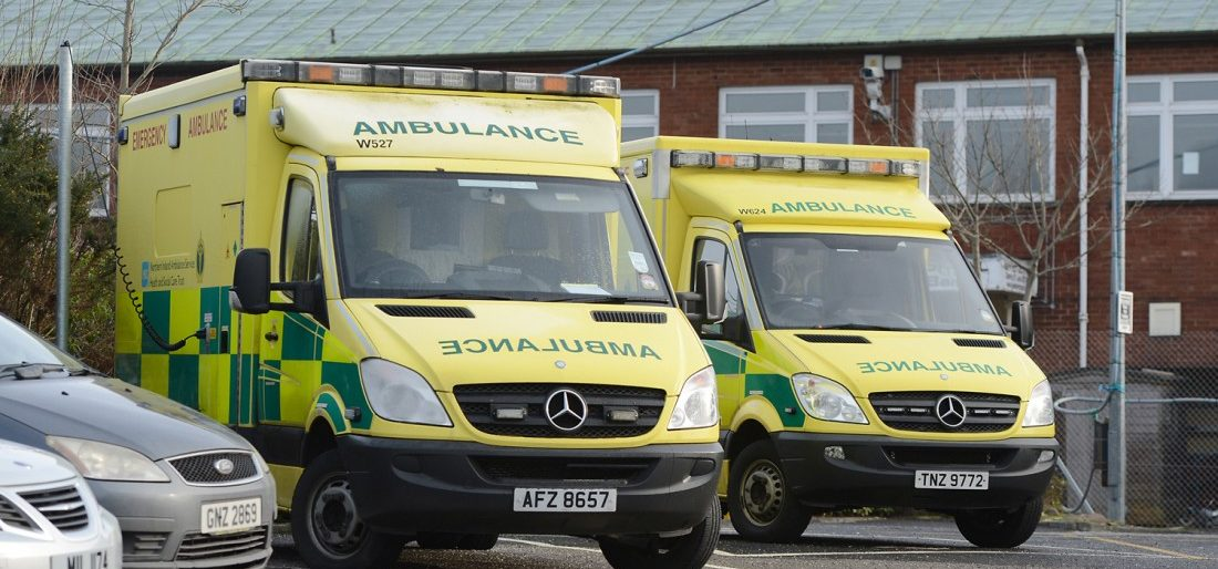9eac987ac0c73 Ambulances lined up at the Enniskillen Ambulance depot RMG02