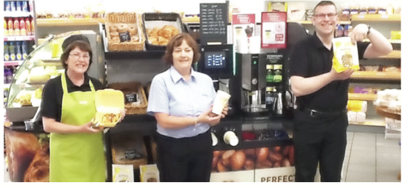 The staff at Courtney's MACE in Lisnaskea