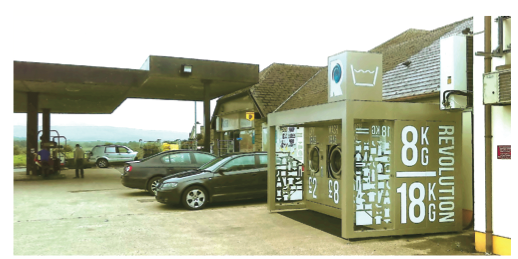 The Revolution outdoor launderette is now based at APG Supplies & Services in Belcoo.