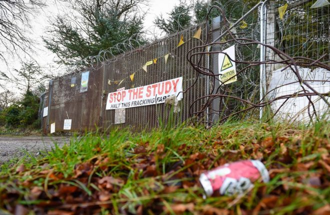 The proposed fracking site near Belcoo has now been vacated following Tamboran's exit from the area